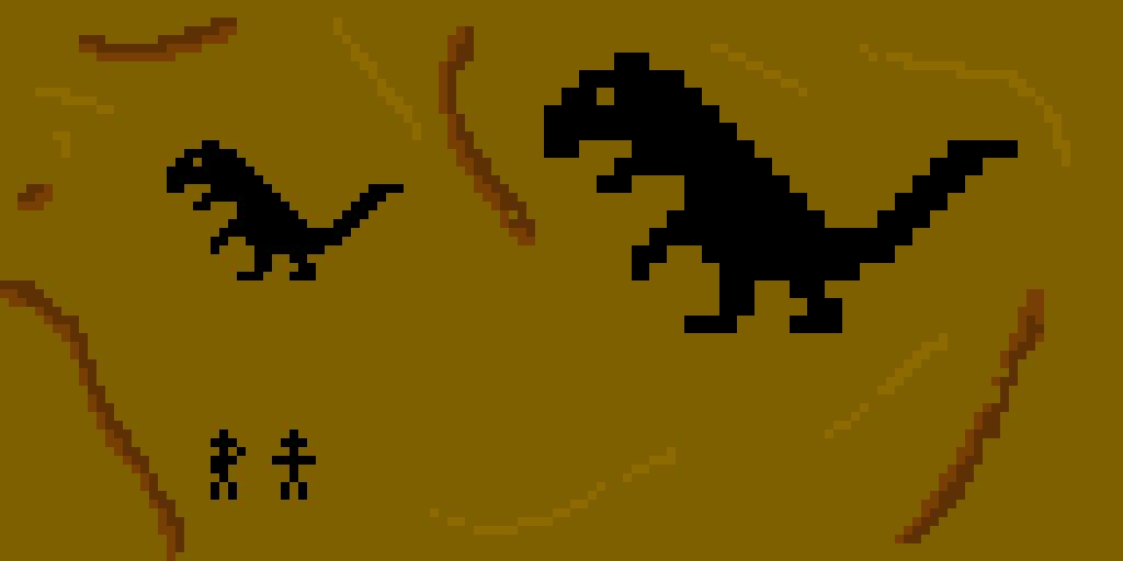 Ancient drawings of Dinopixel