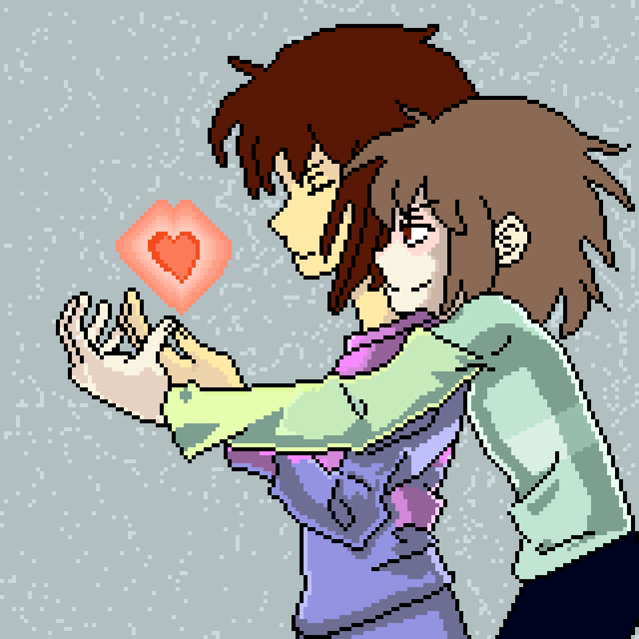 Chara and Frisk (from Undertale)