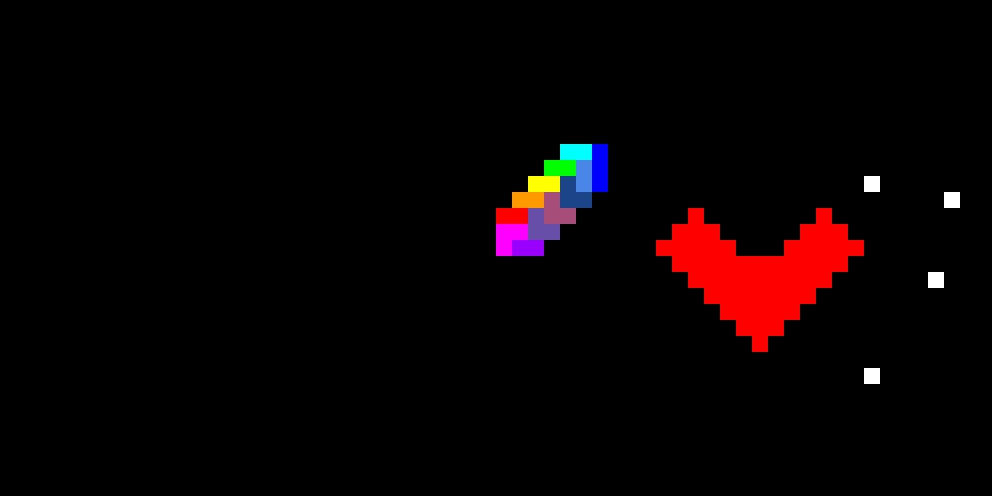 my rainbow rectangle heart