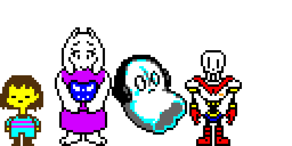 Undertale characters part one (let me know if i missed some)