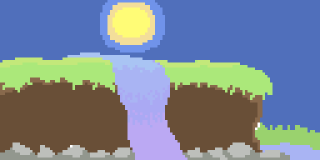 Waterfall (I Was Too Lazy To Make A Sunset)