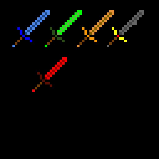 Random minecraft sword retextures