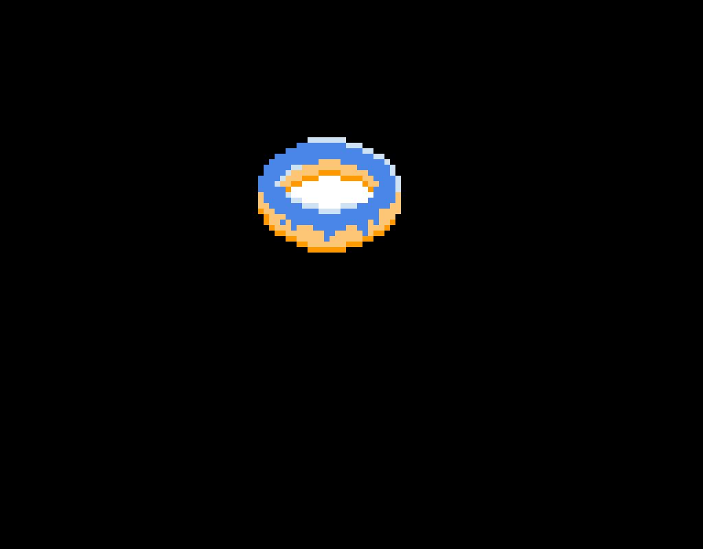 Blue Donut with Orange