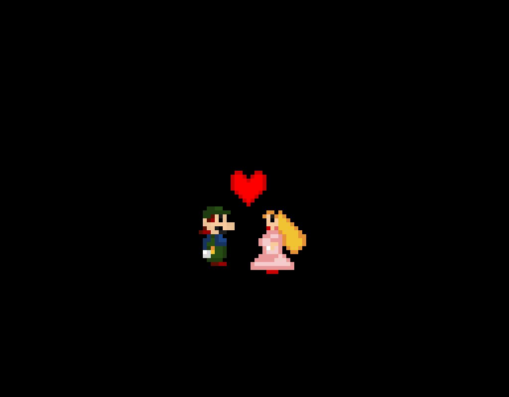 Luigi gets Peachs kiss <3 (Updated)