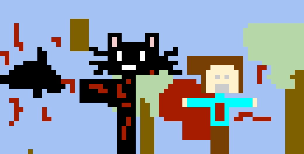 Be careful cartoon cat
