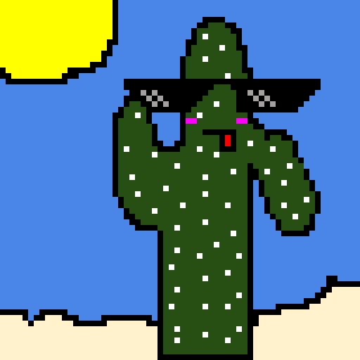 remake of my cactus drawing from art