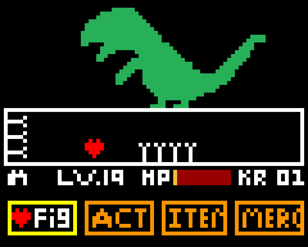 UnderTale (dino_pixel boss)   make a fan boss if you want