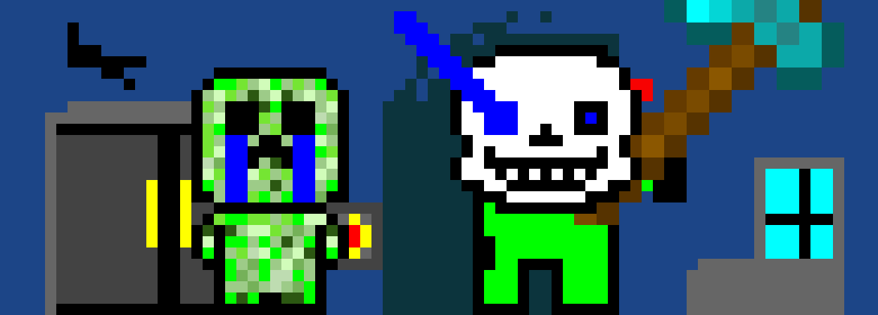 aw man  but this time creeper cries cause its sans