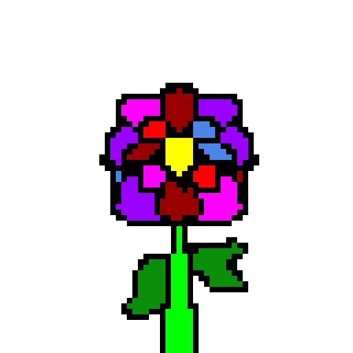 i heard there was a contest(rainbow flower )(contest)