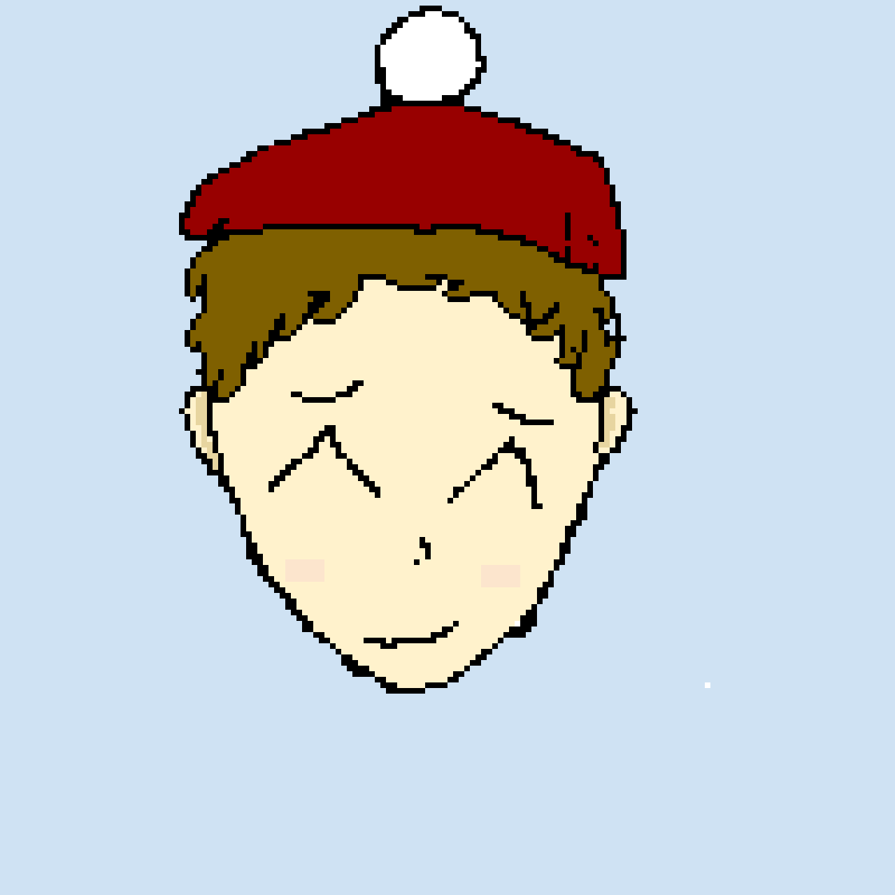 Merry x-mas here's what my little brother looks like LOL-