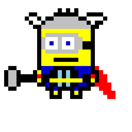 Pixel Art Minion Achilles Heel